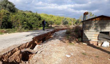 Çevlik Mahallesi'nde heyelandan zarar gören yol onarıldı