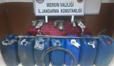 Mersin'de akaryakıt hırsızlığı zanlıları yakalandı
