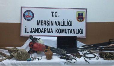 Mersin'de kaçak kazı yapan 3 kişi yakalandı