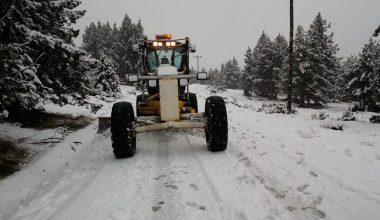Mersin'de karla mücadele çalışması