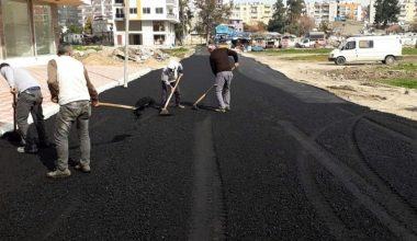 Akdeniz'de yollar asfaltlanıyor