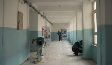 Denetimli Serbestlik yükümlüleri okullarda temizlik ve tadilat yaptı