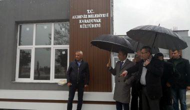Karaduvar Mahallesi Kültür Evi inşaatında sona gelindi