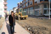 Mut'taki bozulan cadde asfaltlanıyor