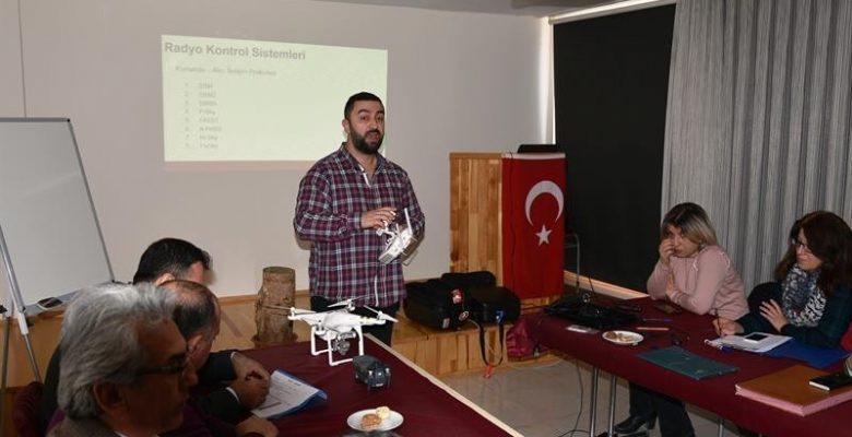 Tarım ve Orman Müdürlüğü teknik personeline drone eğitimi