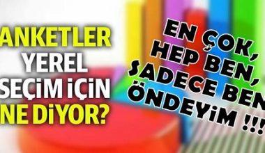 ANKETLERDE HERKES ÖNDE GİDİYOR