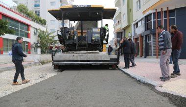 Erdemli'de beton yol çalışmalarına başlandı