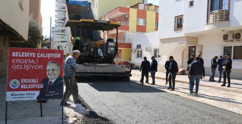 Erdemli'ye beton kaplama yol