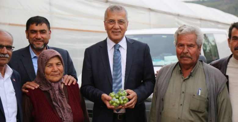 Erik hasadı yapan çiftçiye Başkan Tarhan'dan destek ziyareti