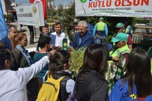 Mersin Orman Bölge Müdürlüğü 5 bin adet fidan dağıttı