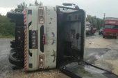 Mersin'de işçileri taşıyan minibüs kaza yaptı: 4 yaralı