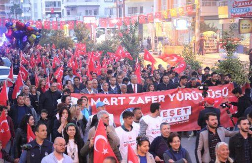 Mezitli Belediyesi'nden Çanakkale yürüyüşü