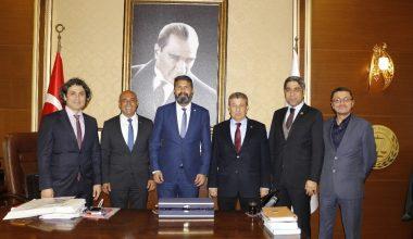 Baro başkanlarından Yeşilboğaz'a ziyaret