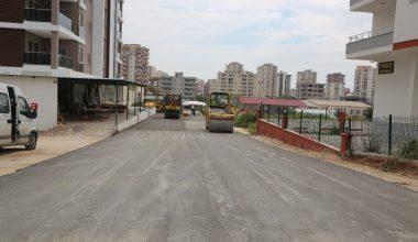 Erdemli'de beton yol çalışmaları devam ediyor