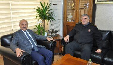 Mersin İl Jandarma Komutanı Uçar'dan Başkan Dinçer'e ziyaret