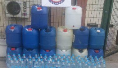 Mersin'de 604 litre sahte içki ele geçirildi