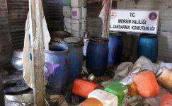 Tarsus'ta 2 bin 650 litre kaçak içki ele geçirildi