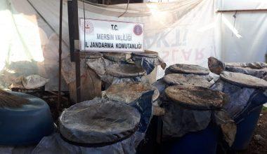 Tarsus'ta 3 bin litre kaçak içki ele geçirildi