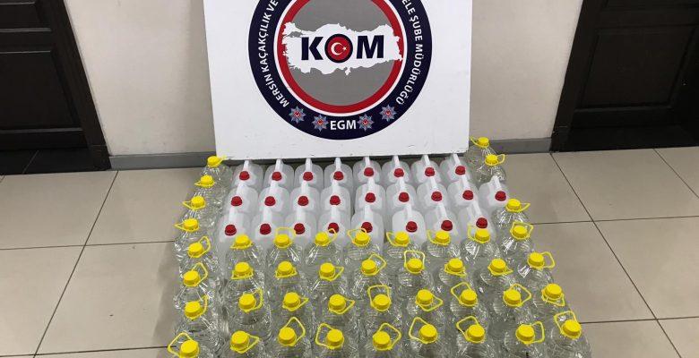 340 litre etil alkol ve sahte rakı ele geçirildi