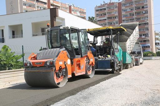 Tömük'te beton yol uygulaması