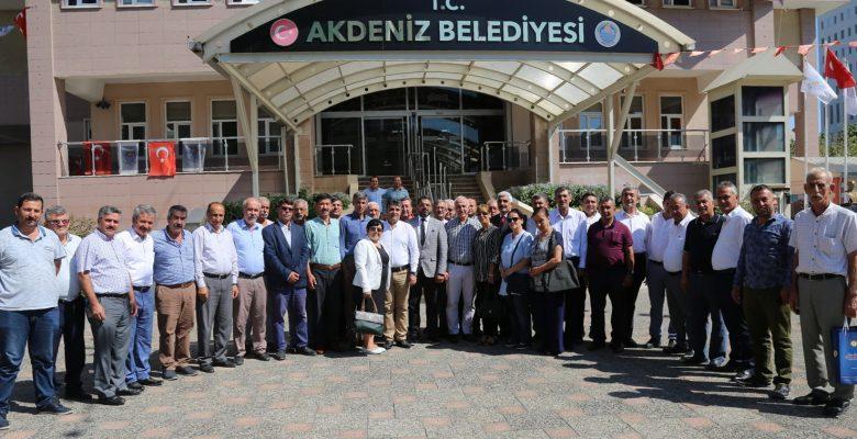 Akdeniz Muhtarlar Federasyonu'ndan Başkan Gültak'a Teşekkür Ziyareti