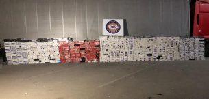 75.000 paket gümrük kaçağı sigara ele geçirildi