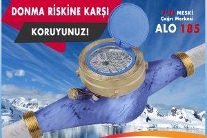 MESKİ'den kış aylarında su sayaçları için 'donma' uyarısı
