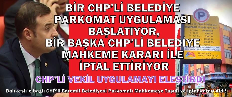 CHP'DE PARKOMAT ÇELİŞKİSİ