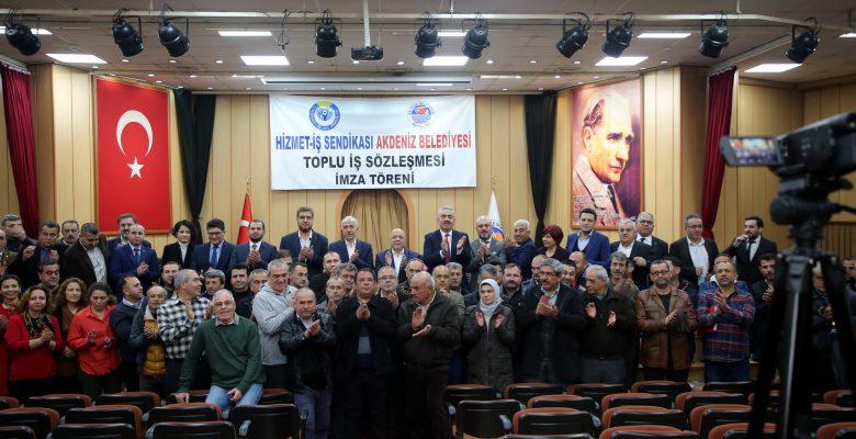 Akdeniz'de Toplu İş Sözleşmesi İmza Töreni