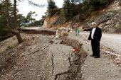 Eredmil'de heyelanda zarar gören yollar onarılıyor
