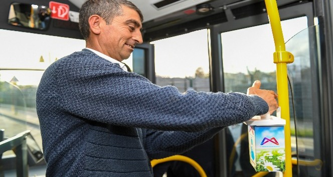 Belediye otobüsleri dezenfekte ediliyor