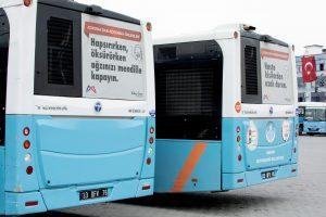 Sağlık çalışanlarına otobüsler ücretsiz