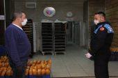 Erdemli'de fırınlara korona virüs denetimi