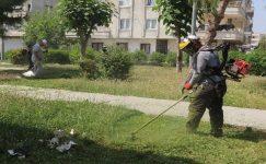 Akdeniz'de park ve bahçelere bakım çalışması yapıldı