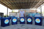 Plajlar için çöp kovası