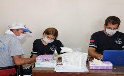Belediye çalışanları sağlık taramasından geçti