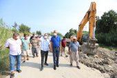 Mezitli Belediyesi, tehlikeli geçitte çalışmalara başladı