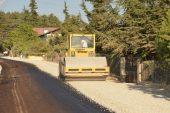 Kırsalda asfalt çalışması