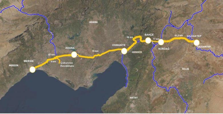 Mersin-Adana-Gaziantep Hızlı Tren Hattının ihalesi gerçekleşti