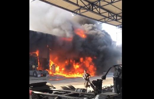 Tırmıl Sanayi Sitesinde Yangın