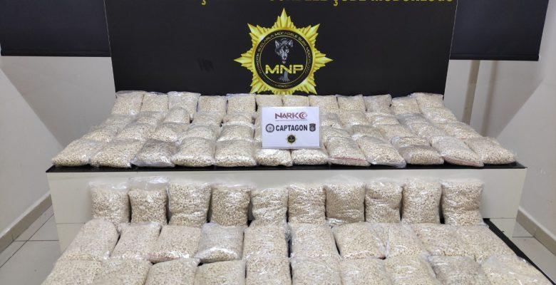 393 bin adet uyuşturucu hap ele geçirildi