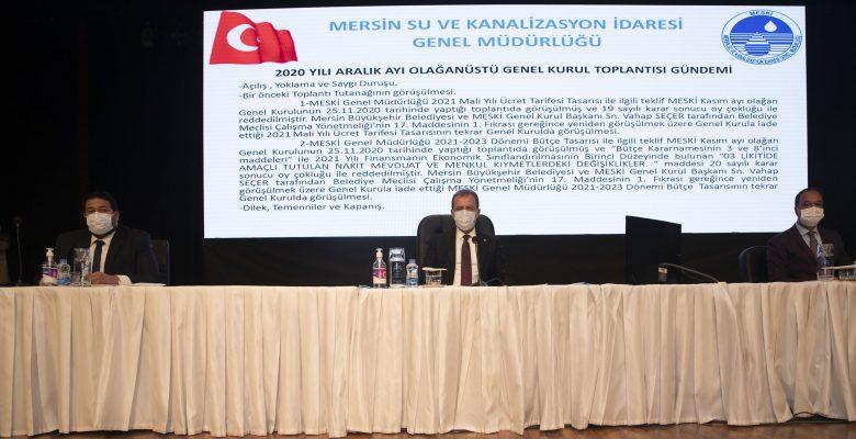 MESKİ'NİN ÜCRET TARİFESİ VE BÜTÇE TASARISI KABUL EDİLDİ