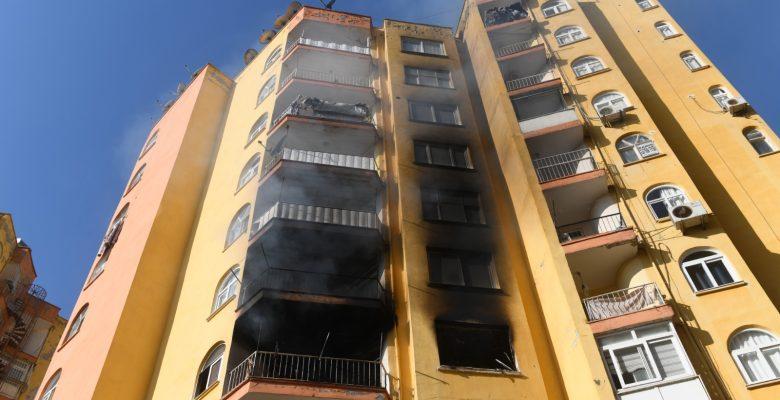 12 katlı binada yangın paniği