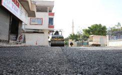 Toroslar'da asfalt çalışması