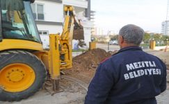 Mezitli Belediyesinden yağmur suyu toplama sistemine destek