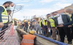 Çay ve Çilek Mahallelerinde içme suyu şebeke hattı çalışması sürüyor