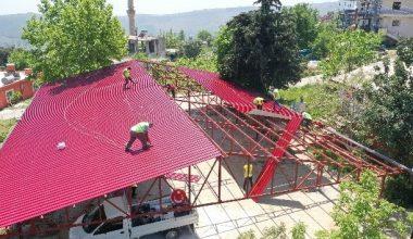 Erdemli Belediyesi, yeni bir sosyal alan yapıyor