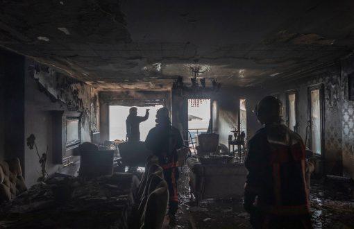 10 Katlı binada korkutan yangın