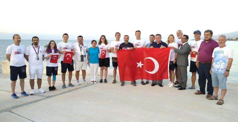 Bayrağımız Kulaçlarla Kıbrıs'a Etkinliği Anamur'dan Başladı