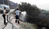 Akdeniz Belediyesi, Yangın Bölgesine Arazözler Ve Personel Gönderdi